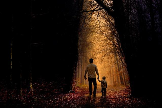 procházka s chlapečkem